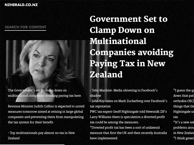 NewsS - Article article clean typography type bw white black website web blog news