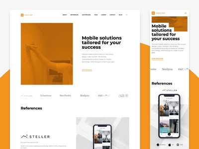 Nextap Web Redesign (UX/UI/Illustration) - Case Study case study dailyui app minimal nextap ui ux behance clean design