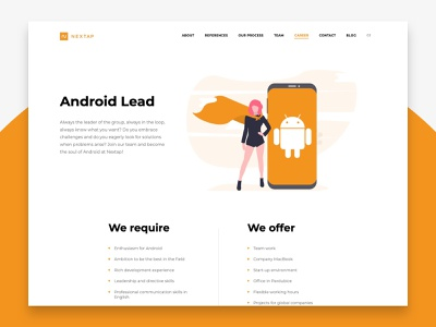 Nextap Web Redesign (UX/UI/Illustration) - Case Study - Part 2 web redesign illustration android minimal nextap ux ui behance clean design