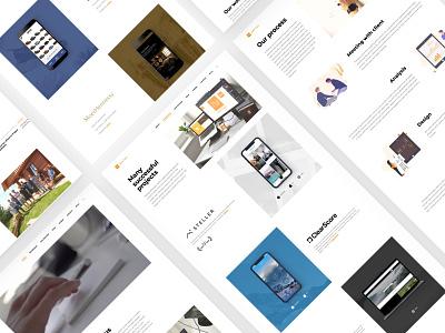 Nextap Web Redesign (UX/UI/Illustration) - Case Study - Part 3 web layout case study minimal nextap ux ui behance clean design