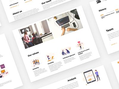 Nextap Web Redesign (UX/UI/Illustration) - Case Study - Part 4 web dailyui case study minimal nextap ux ui behance clean design