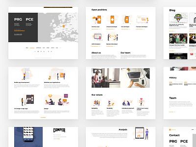 Nextap Web Redesign (UX/UI/Illustration) - Case Study - Part 5 case study dailyui web design nextap orange website clean minimalism minimalist minimal ux ui redesign web