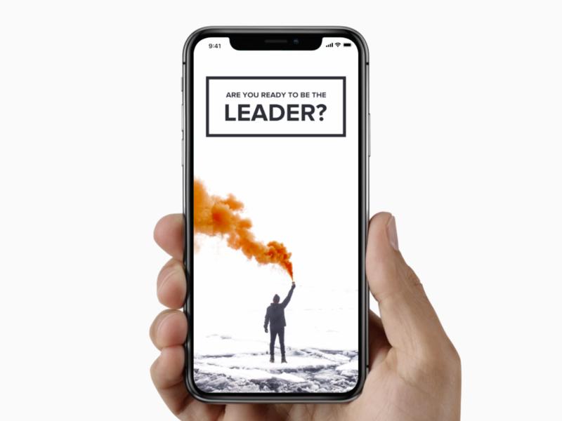 Android Lead - Mobile Website Proposal flat ux case study behance dailyui leaders smoke minimal clean nextap web ui design mockup leader mobile ios iphone phone app