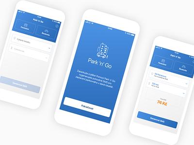 Park 'n' Go Redesign iphone mobile application design minimal behance ux ui app redesign nextap clean mobile app design redesign mobile ui app design