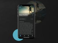 Open Air Cinema App - UI Design - Part 2