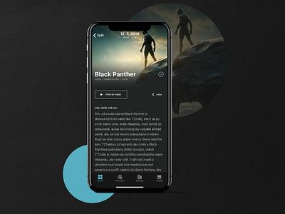 Open Air Cinema App - UI Design - Part 2 mobile design clean minimal dark app app design dailyui behance case study movie cinema dark ux app