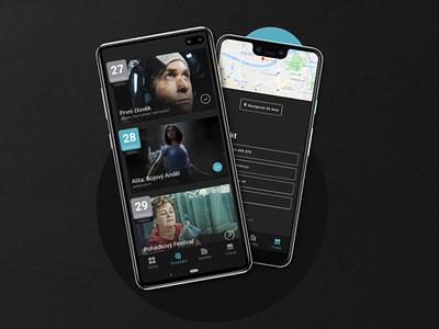 Open Air Cinema App - UI Design - Part 3 mobile layout case study dailyui app minimal ux ui behance design