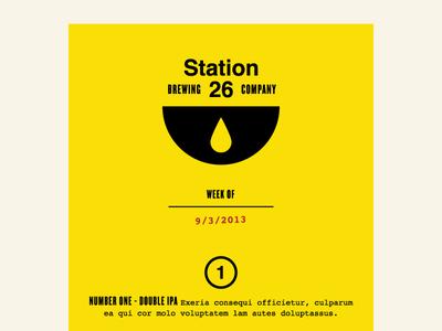 Station 26 Menu
