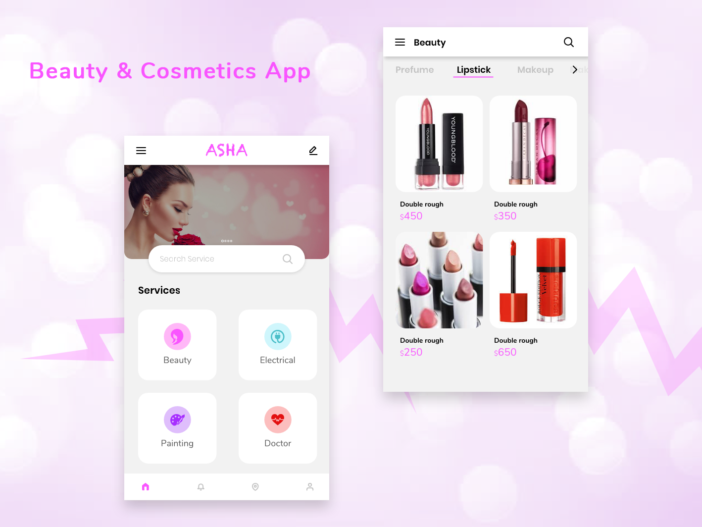 Product Screen For Beauty & Cosmetics App