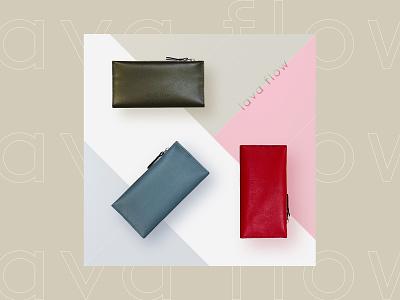 Lava flow - hand made leather goods branding design brand facebook ad social media design