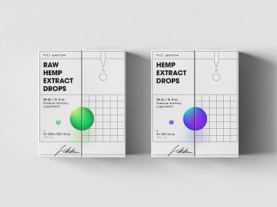 Likku packages design illustration hemp hemp oil package mockup package design package