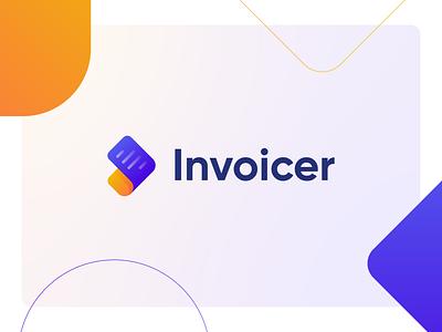 Invoicer logo concept icon icon design vector graphic design design logomark logo design logodesign logotype logo branding design branding brand