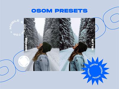 Osom presets brand design logo design graphic design presets sticker lightroom lightroom preset filter photography badge logo badge brand design branding brand logodesign logotype