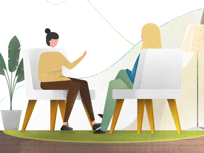 Illustration for psychology consultant