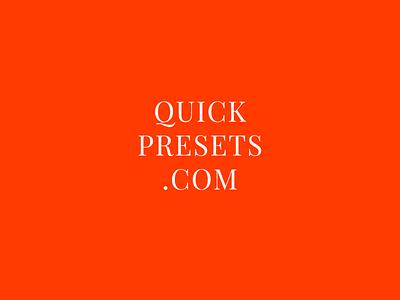 QuickPresets logo vector typography branding expressive orange logo design logo logotype