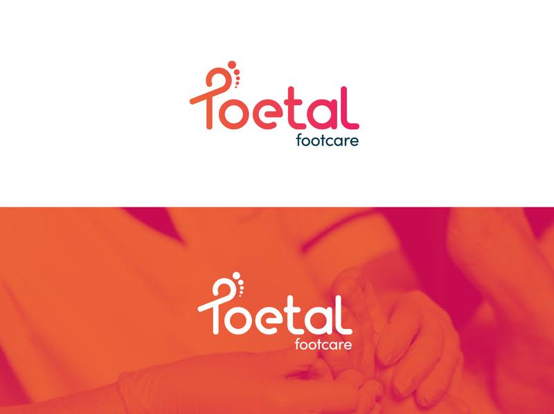 Toetal Footcare - Rebrand heath healthcare branding simple minimalist logo