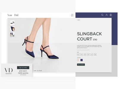 Van Dal Product Page Re-design
