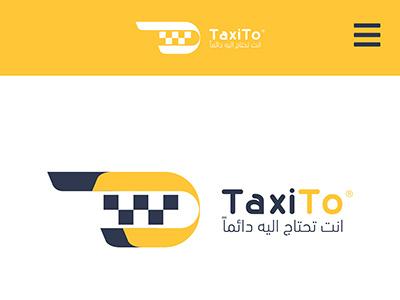 TaxiTo logo illustration yello ux app