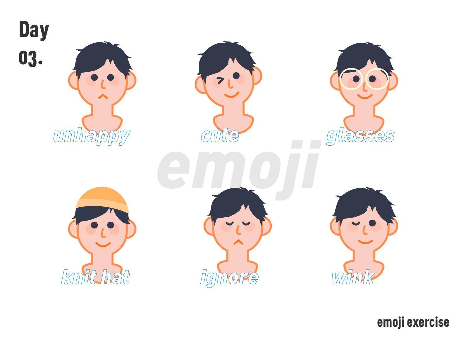 Emoji Exercise By Arabin Wong On Dribbble