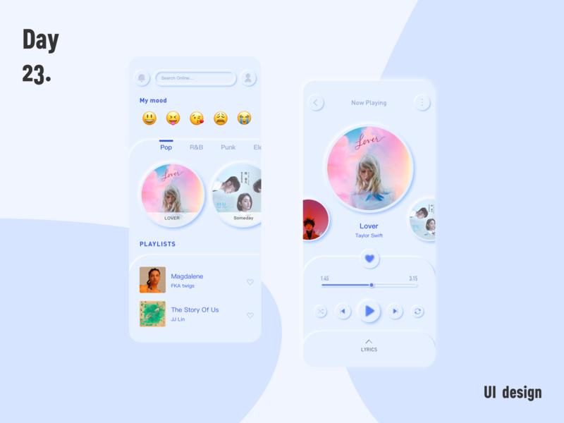 music app(Neumorphism UI)