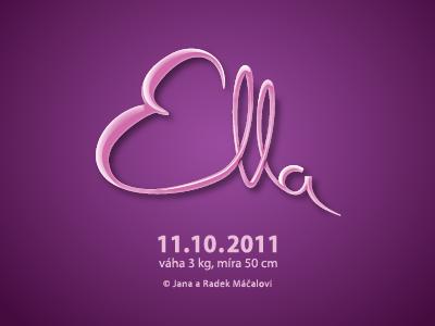Ella illustrator announcement purple
