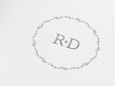 Radka & David logo circle wedding card rd stamp