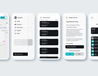 NextRide App Screens