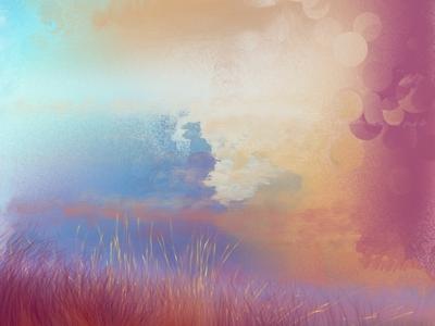 sunset sunset illustration sunset artful expressinve digital illustration