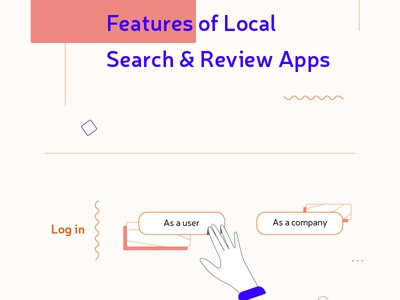 Infographic - Features of local Search and Review Apps