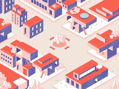 Location Based Services isometric city illustration vector location based design location illustration