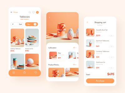 shopping app icon illustration minimal typography web ux branding ui design app