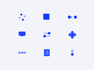Blue Icon mg controls button geometric icons blue animation component typography web logo icon illustration ux ui design app