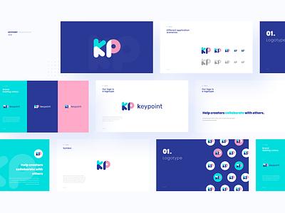 Key Point Branding brand branding app design ux icon illustration logo web typography blue pink visual
