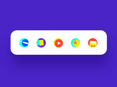Icon Micro Interaction button play animation component controls typography logo icon ui ux app design illustration dynamic effect interaction tab bar tab