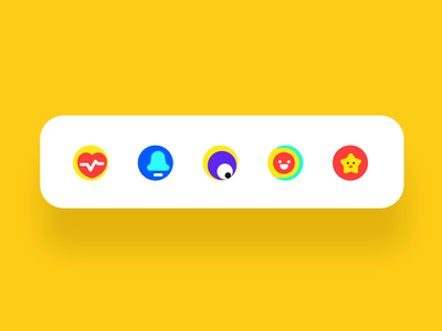 Icon Micro Interaction2 webdesign component controls interaction button branding logo illustration ui ux design app animation icon design icon tabs tab tabbar