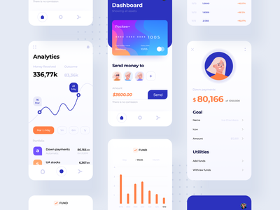 Soto : Investment App 02 stock financial dashboad analytics money fund financial services management account banking bank product design portfolio screen spendings blue branding ux ui app