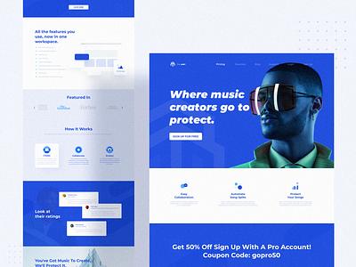 The Labz Web Design clean design clean ui visual identity clean homepage finance landing page webdesign website component web logo blue branding ux design ui app