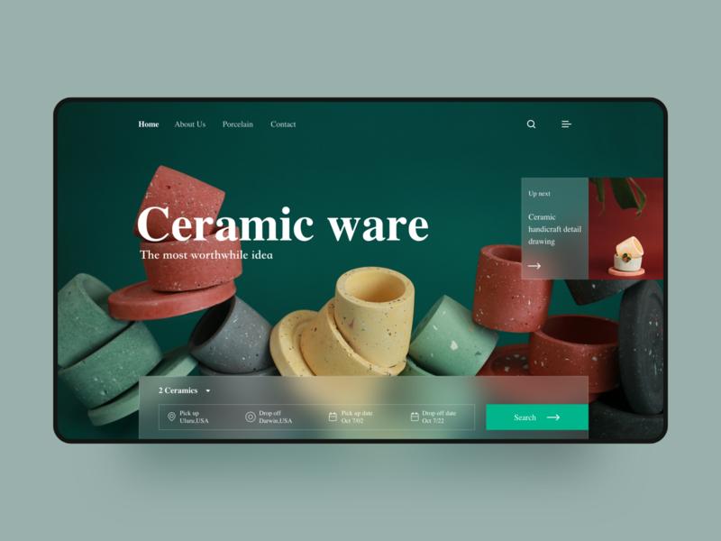 Ceramic Customization Web Design blur green clean art porcelain teapot transaction image embellishment decoration ceramic icon ux design ui app web design website web