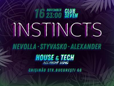 Instincts - Event Poster event agency design branding poster festival poster event branding club flyers club night club party club flyer event