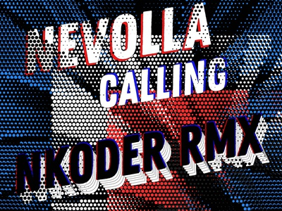 Nevolla - Calling ( Nkoder Remix ) Track Cover Art type halftone cover artwork cover design cover art cover house music festival poster event event branding design club party club night branding club flyers club flyer