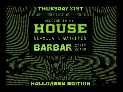 Halloween Party 2019 / Barbar poster halloween flyer halloween party halloween design cover artwork festival poster event branding club night club party club flyers club flyer halloween