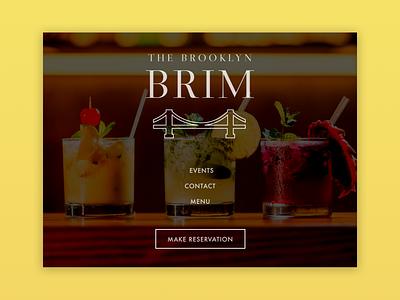 Landing Page for a Cocktail Lounge ui challenge sharpen sharpen.design