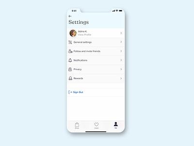 Settings Screen - UI Daily sketchapp clean app ui challenge ux ui ui daily