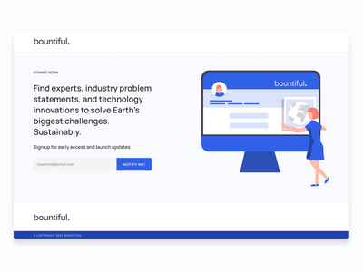 Bountiful - Coming Soon! ui  ux startup branding ux