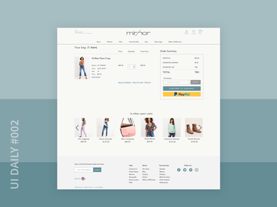 UI Daily #002 Checkout Page website design web ux ui ui daily ui challenge