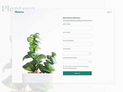 Sign Up Page web design color pallet ux ui ui challenge ui daily