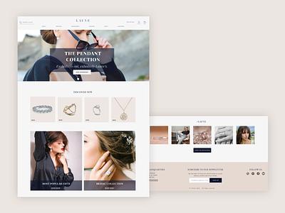 Jewelry Landing Page branding website color pallet clean ui challenge sharpen challenge