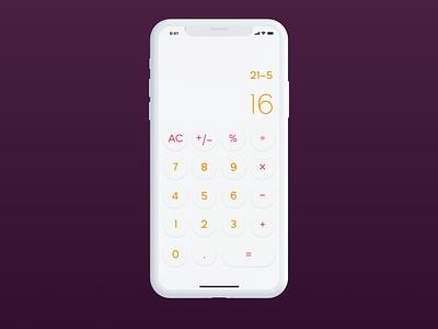 Calculator clean calculator ui app color pallet ux ui daily ui challenge