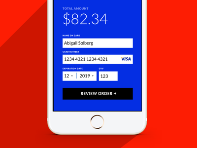 Credit Card Checkout | Daily UI Day 2 ecommerce checkout payment day 2 daily ui