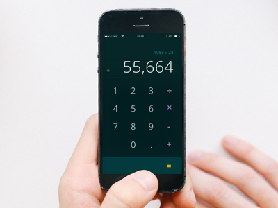 Calculator | Daily UI Day 4 mobile calculator day 4 daily ui